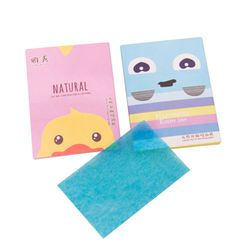 50 Sheets/Pack Random Pattern send Make Up Oil Absorbing Blotting Facial Face Clean Paper Beauty tools Wholesale