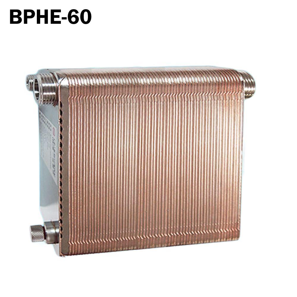60 platten Gelötete Plattenwärmetauscher SUS304 Edelstahl, umlauf chiller
