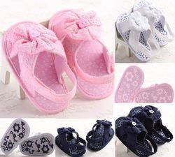 Date Bébé Enfant En Bas Âge Sandales Chaussures Bébé Fille Fleur Fond Mou Anti-slip Dentelle Infantile Chaussures Bébé Filles