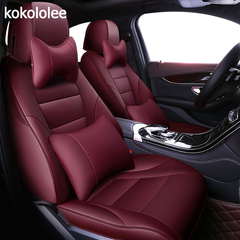 kokololee custom real leather car seat cover for lexus LS series RX series NX GS CT GX LX RC series Automobiles Seat Covers