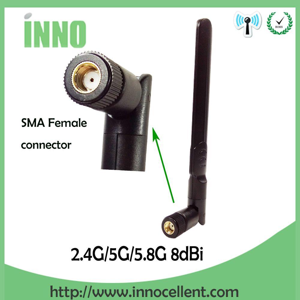 2.4GHz 5GHz 5.8Ghz Antenna 8dBi RP-SMA Connector Dual Band wifi Antena aerial SMA female wireless router 2.4 ghz antena 5.8 ghz