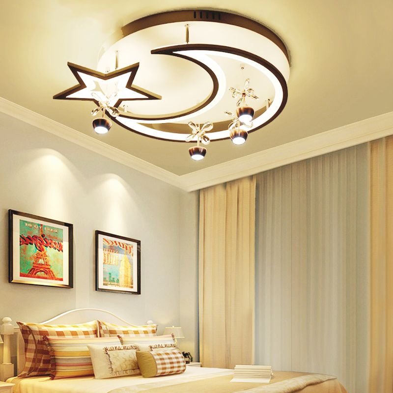 led Ceiling light Creative star half moon living room lamp children's bedroom ceiling lamp small living room decorative lights