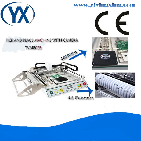 Manufactory Supply Single Board Production Line Equipment TVM802B, SMT Feeder and Dual Cameras, High Speed Low Price