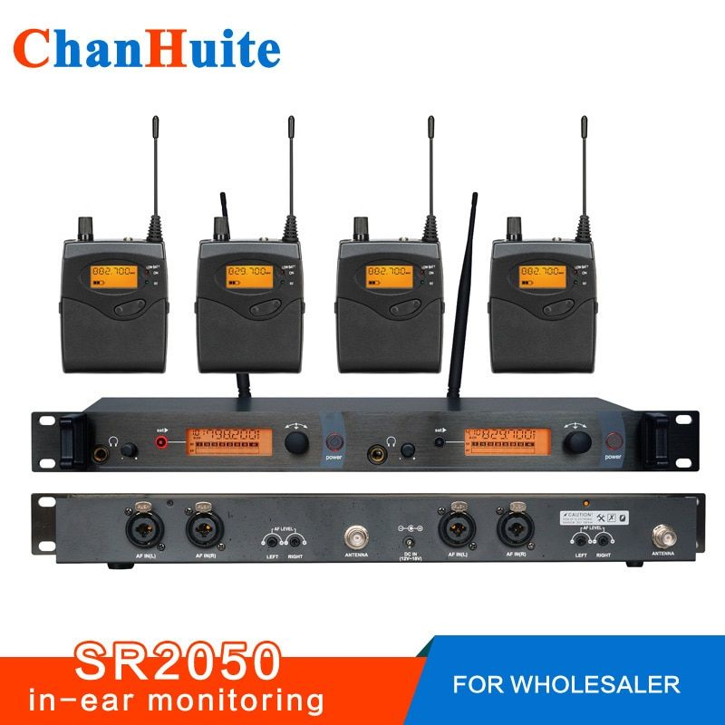 For Reseller! SR2050 Professional in ear monitor system with 4 Receivers, monitor in ear wireless, Stage monitoring monitors