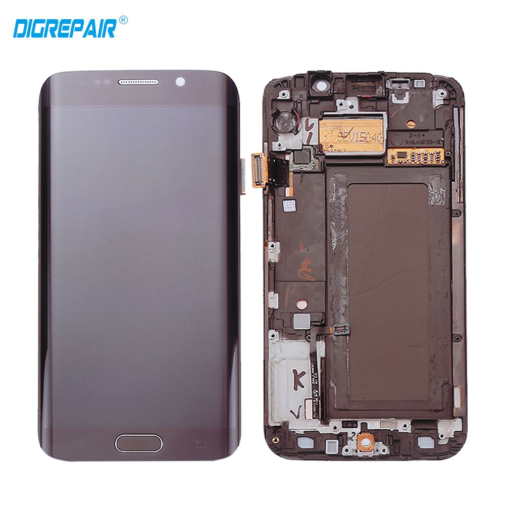 100% Test AAA+ Blue White Gold for Samsung Galaxy S6 edge G925F G925I LCD Display Touch Screen Digitizer Assembly with Frame