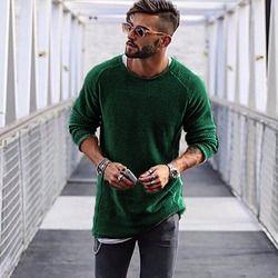 Pria Sweater Musim Gugur Musim Dingin Rajutan Padat Hanya Gaya Pullover Kasual Longgar O Leher Sweater Jumper Pria Hitam Pakaian Merek 2018