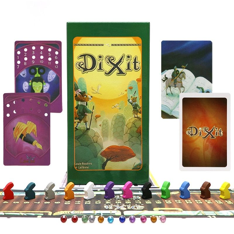 Full English version Dixit 1 2 3 4 5 6 7 <font><b>board</b></font> game educational kids toys for family activities children 12 players cards game