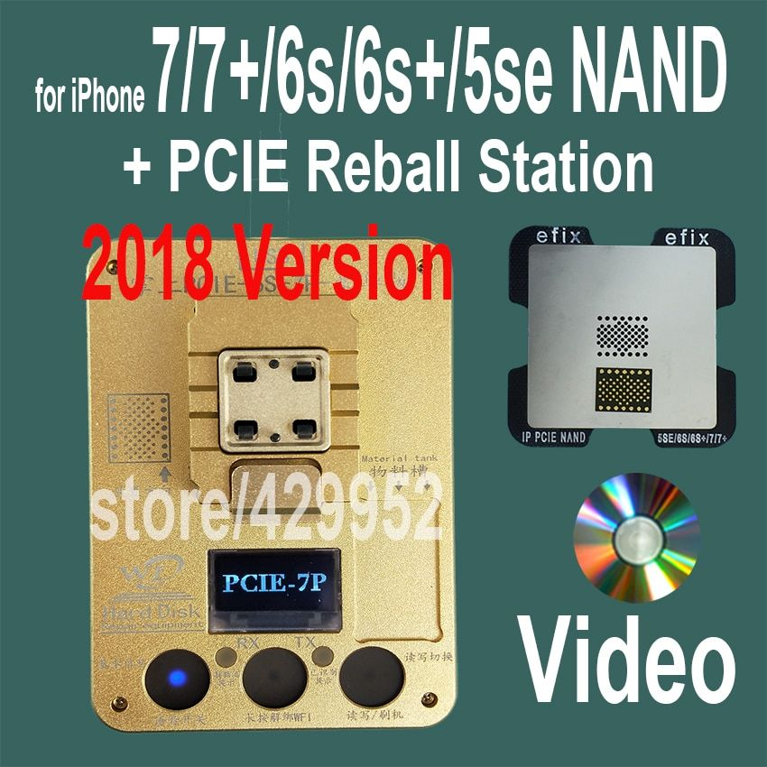 2018 Version PCIE NAND Flash Chip Programmer Tool Kits Machine Fix Repair HDD IC Serial Number for iPhone 5SE 6S 7 Plus iPad Pro