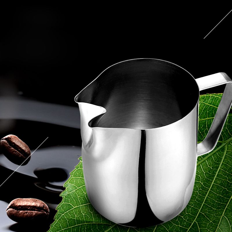 Pichet à mousse de lait à double bec en acier inoxydable pichet à café expresso pichet à café artisanal Barista pichet à mousse de lait 1000 ml