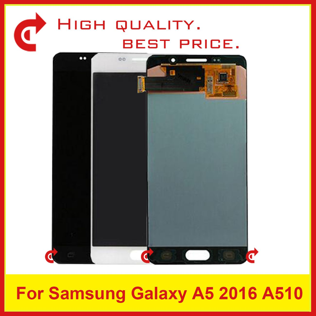 10Pcs DHL For Samsung Galaxy A5 2016 A510 A510F A510M A510FD A510Y Lcd Display With Touch Screen Digitizer Assembly Complete