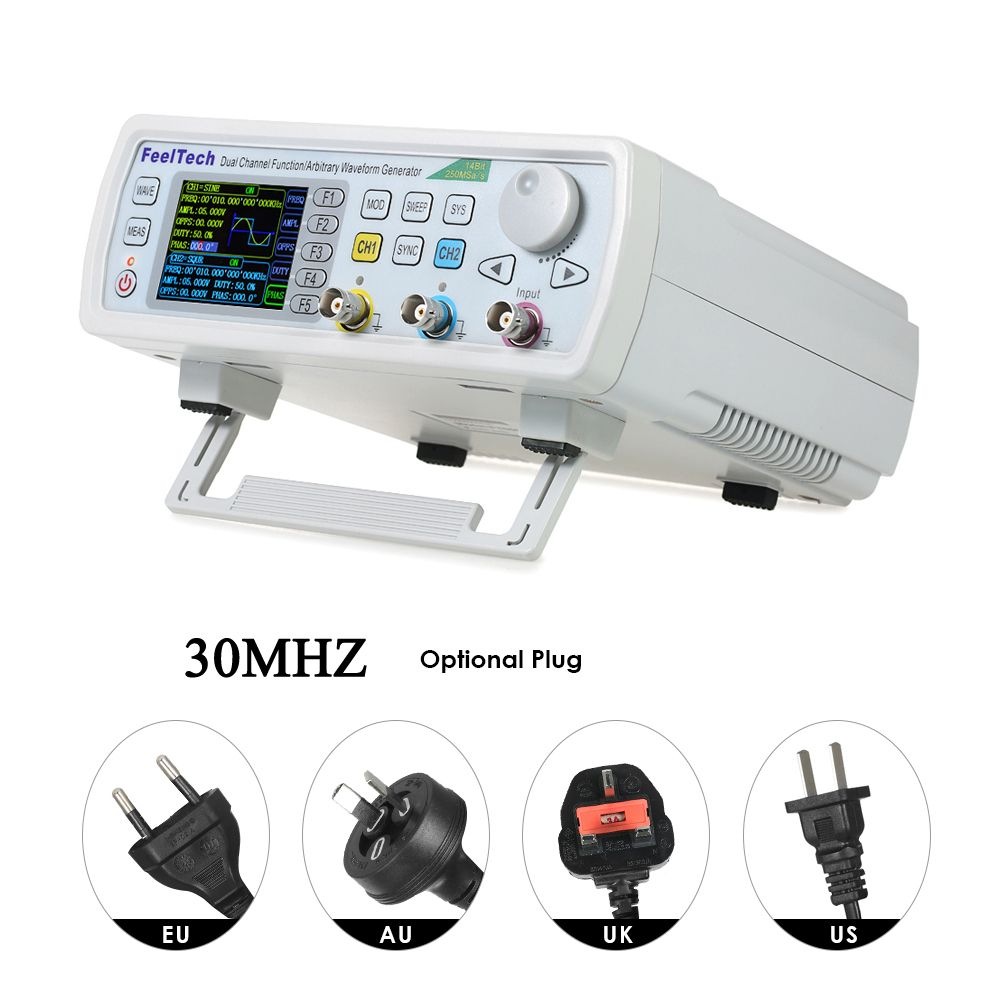 KKmoon FY6600-30M FY6600 Series 30MHZ Digital Control Dual-channel DDS Function Signal Generator frequency meter Arbitrary