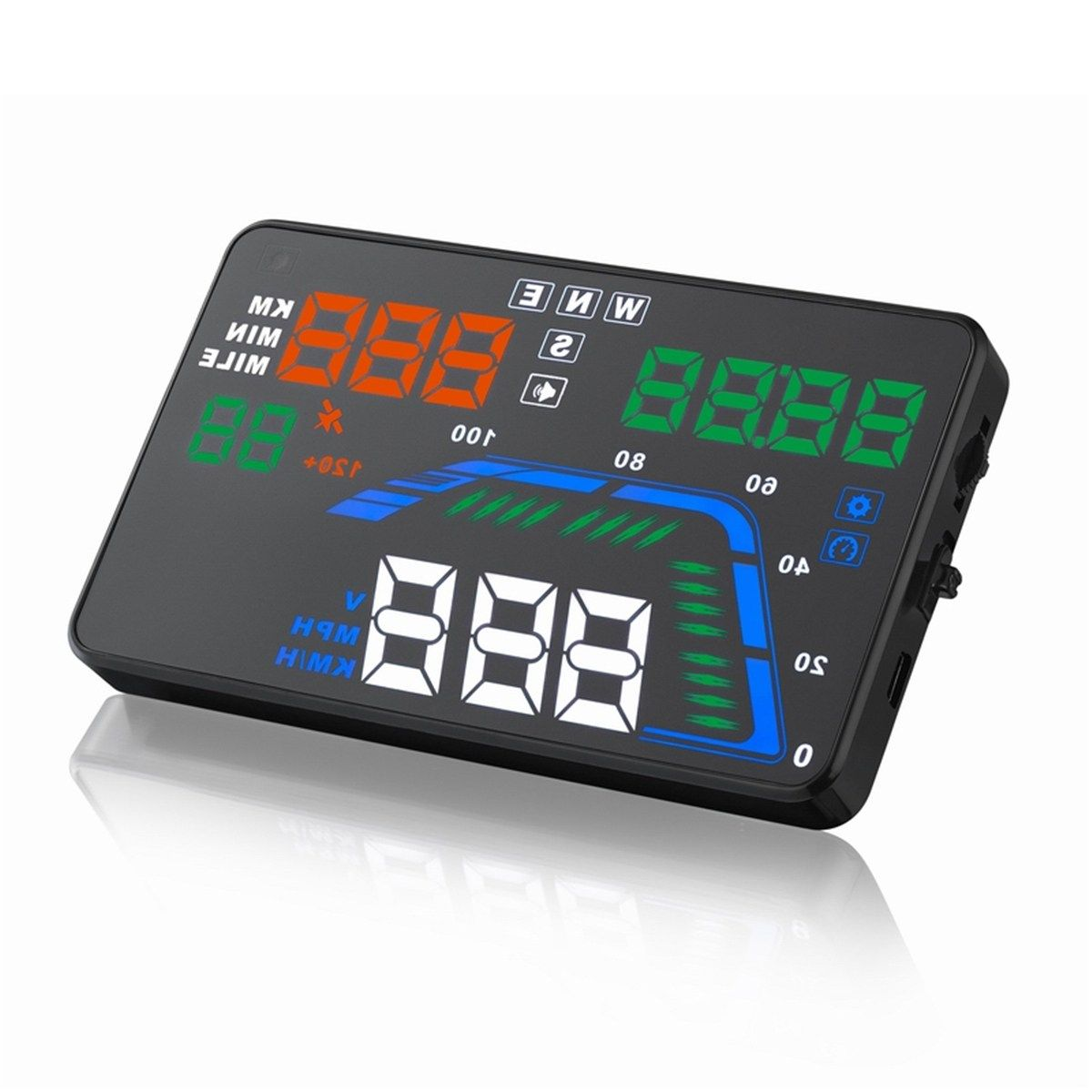 Muiti Color Version Q7 5.5 Inch Heads Up Display HUD GPS Speedometer Display Car Speed Projector Brand New