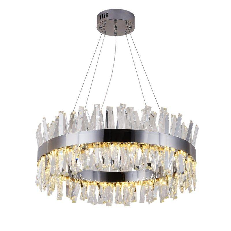 Neue moderne restaurant kronleuchter chrom/gold runde kristall lampe wohnzimmer dekoration kronleuchter LED hotel lampe