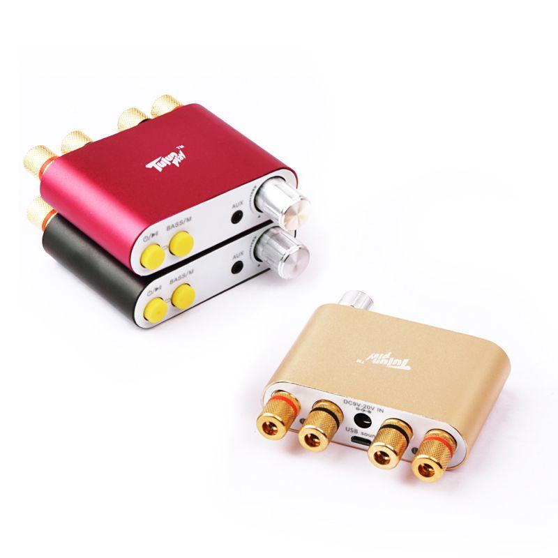 Tulun spielen AMP100 2 Kanal 100 Watt Bluetooth verstärker digital verstärker audio hifi stereo TPA3116D2 amp