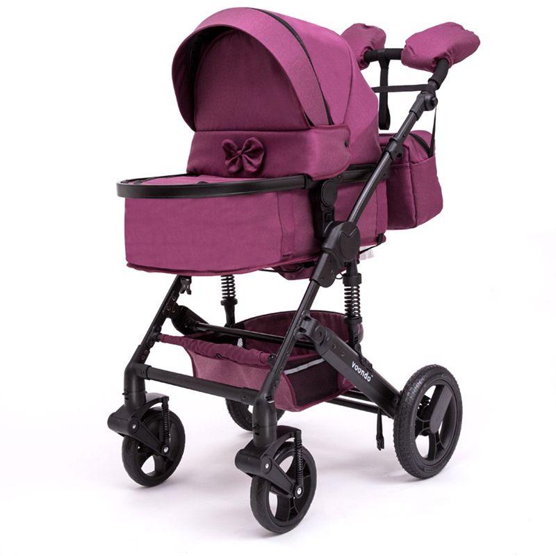 Baby kinderwagen vonndo marke 2in1winter bi-directional hochwertige stoßdämpfer können sitzen 2b1 qualität für kostenloser in RU warme