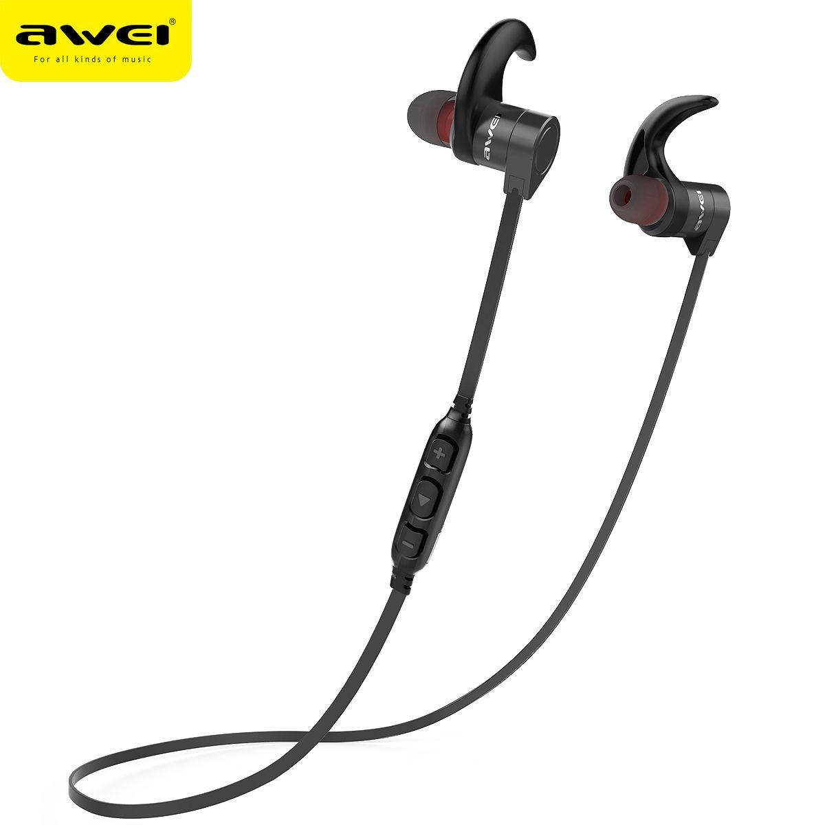 AWEI AK3 Bluetooth Écouteur Étanche Sans Fil Casque Casque Avec Microphone Sans Fil Écouteur Écouteur Audifonos Écouteurs