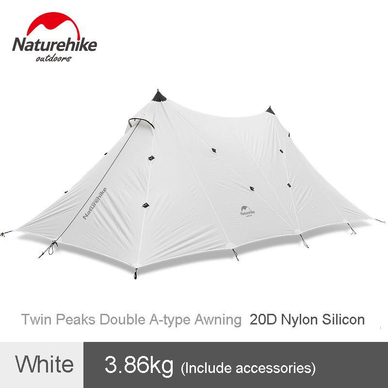 Naturehike Outdoor Camping Doppel-schicht Zelt 20D Silizium A-typ Twin Peaks Markise Regendicht Baldachin
