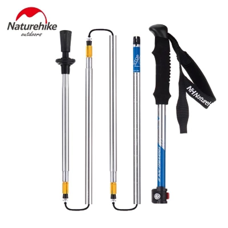 NatureHike 5-Section Einstellbar Wandern Canes ultraleichte Outdoor Klettern Walking Klebt Tragbare Trekkingstock Alpen