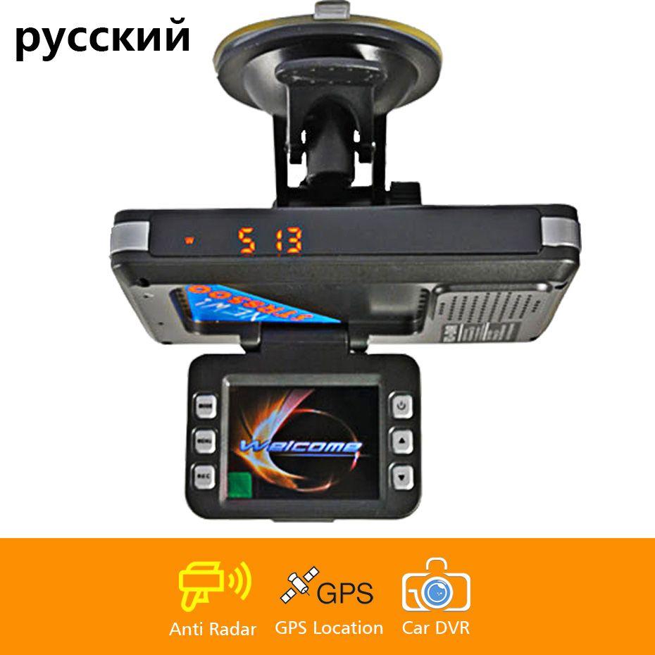Voiture 3 en 1 combo caméra de vitesse signal avertissement GPS localisateur radar détecteur DVR dash cam