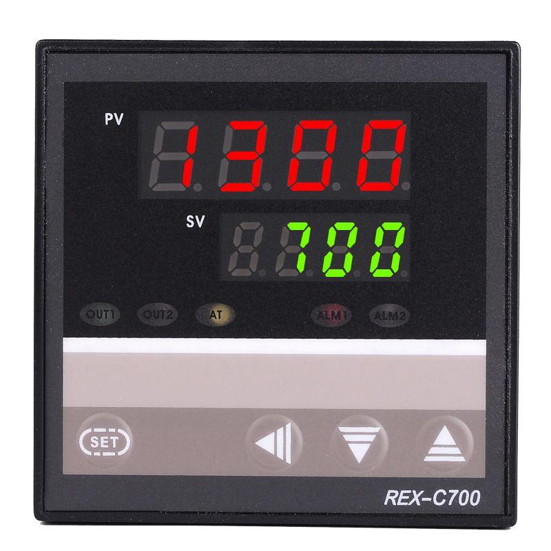 NOUVEAU 1 PCS AC 220 V Four Température Contrôleur RKC REX-C700 Thermocouple/PT100 Entrée Sortie Relais 72*72mm