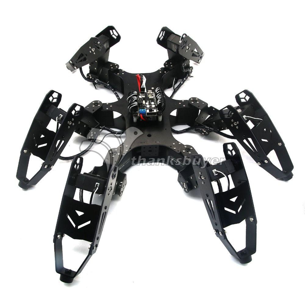Montado Robo-Soul CR-6 Robtics Hexápodo Araña Robot de Seis patas con 20CH y Controladores de Servo Digital