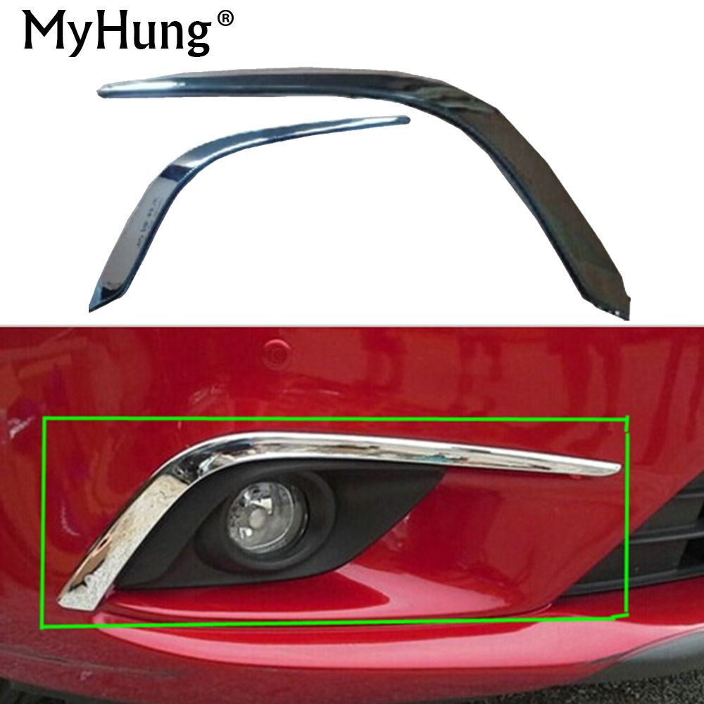 Car accessories front up fog lamp trim front eyebrow eyelid garnish trim for Mazda 6 Atenza 2013 2014 abs  2pcs car styling