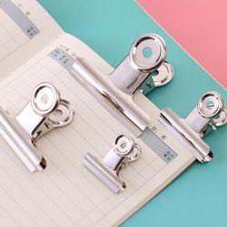 Liant clip bureau papier en acier inoxydable blanc métal clips tailles 29mm 36mm 50mm 61mm bureau et fournitures scolaires papeterie