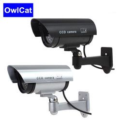 Dummy Security Camera Fake Camera Bullet Emulational Camera Cctv Camera  Waterproof Outdoor For Home Surveillance LED Flash