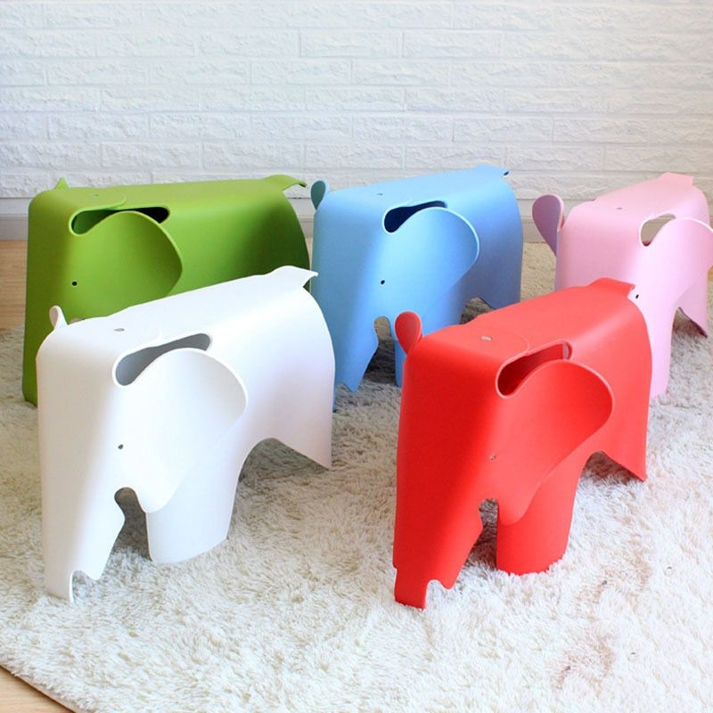 CH224 Welcomed by the children Elephant Kids Chair PP Plastic chair children chair in room Free shipping