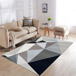 Modern Karpet untuk Ruang Tamu Persegi Panjang Geometris Karpet Besar Anti-Slip Safety Karpet Kamar Anak Rumah Dekoratif Kamar Tidur karpet