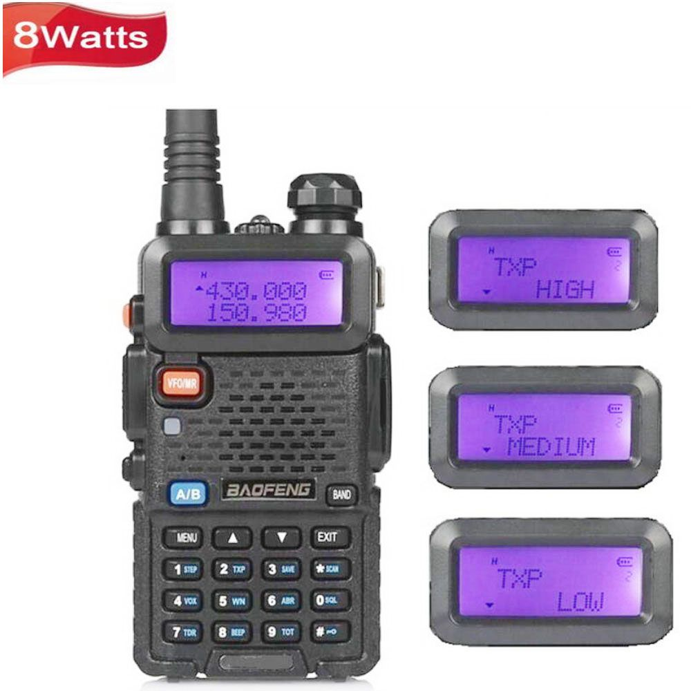 Portable Radio BaoFeng UV-5R 8 w UV-8HX Double Bande VHF/UHF à Deux Voies de Poche Radio CB Talkie Walkie Ham radio Communicateur