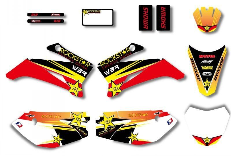 H2CNC GRAPHICS & BACKGROUND DECAL STICKER Kits For YAMAHA TTR110 DIRT Pit Bike TTR 110