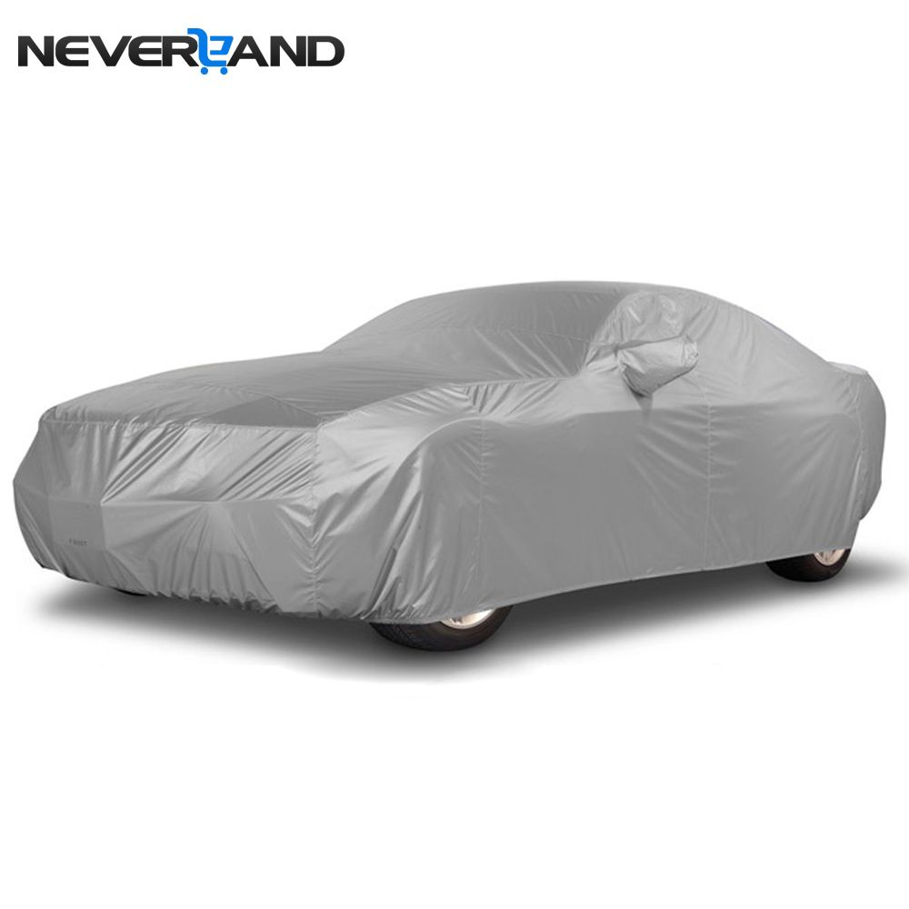 NEVERLAND <font><b>Indoor</b></font> Outdoor Full Car Cover Sun UV Rain Snow Dust Resistant Protection Size S M L XL Car Covers