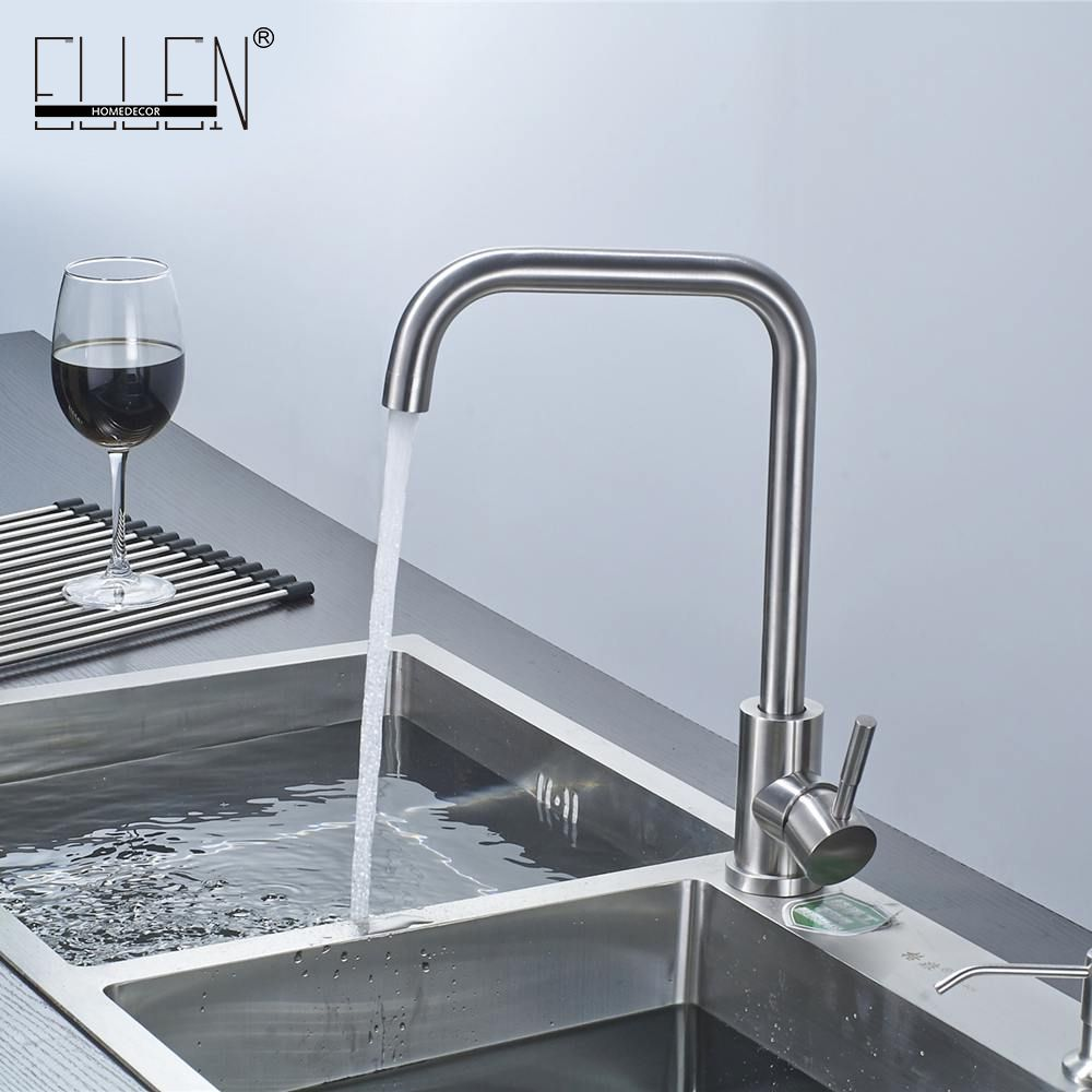 Brushed nickel kitchen faucet modern kitchen mixer tap stainless steel 360 Degree Cold and Hot Tap SUS304 Kitchen Faucets NK02
