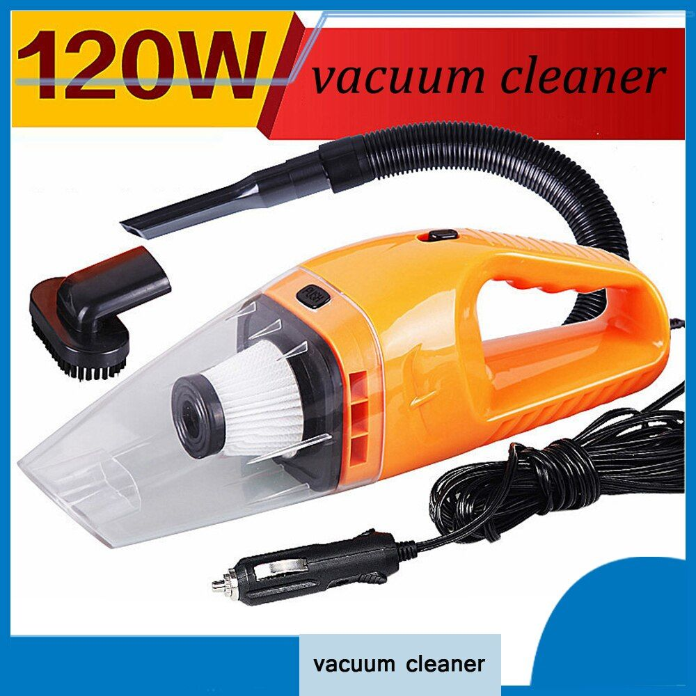 Car Accessories 120W Portable Wet And Dry Dual Use Car Vacuum Cleaner For Auto Clean 5m Length Charging Line