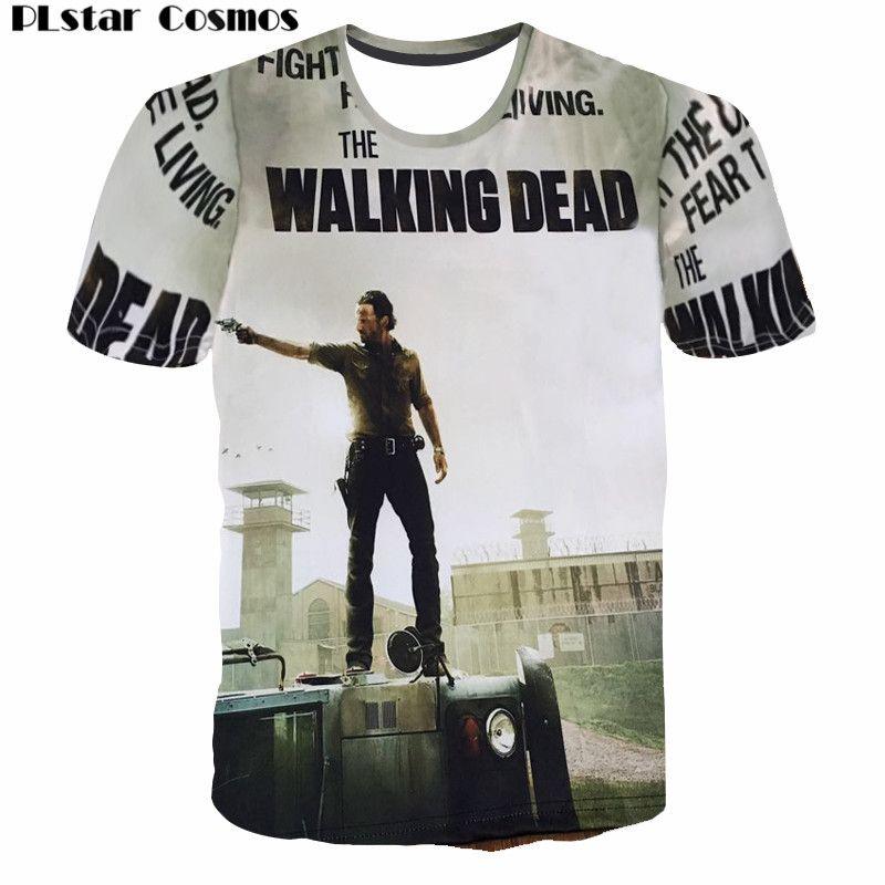 PLstar Cosmos nouveau The Walking Dead Paparazzi T-Shirt Rick Grimes Carl Daryl Michonne zombies 3D été femmes/hommes T-Shirt