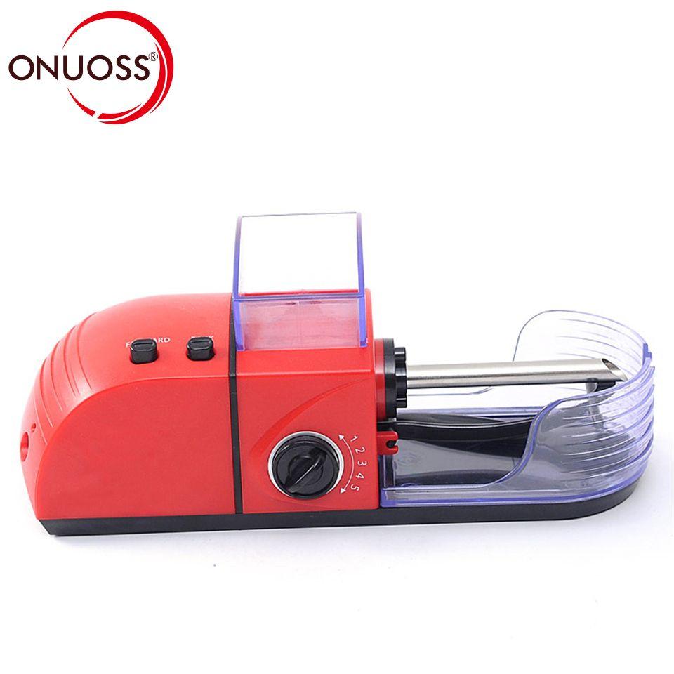 Onuoss Портативный электрическая автоматическая сигареты станок Табак ролика Maker инъекционные трубки 8 мм сигареты jl-033a