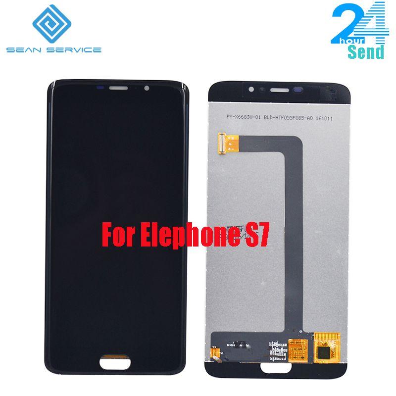 Für Original Elefon S7 LCD in handy LCD Display + Touchscreen Digitizer Montage lcds + Werkzeuge 5,5
