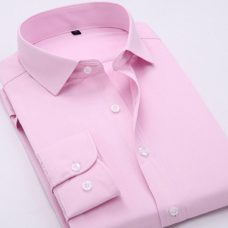 2017 printemps nouvelle chemise à manches longues, professionnel d'affaires couleur pure hommes de chemise N25689
