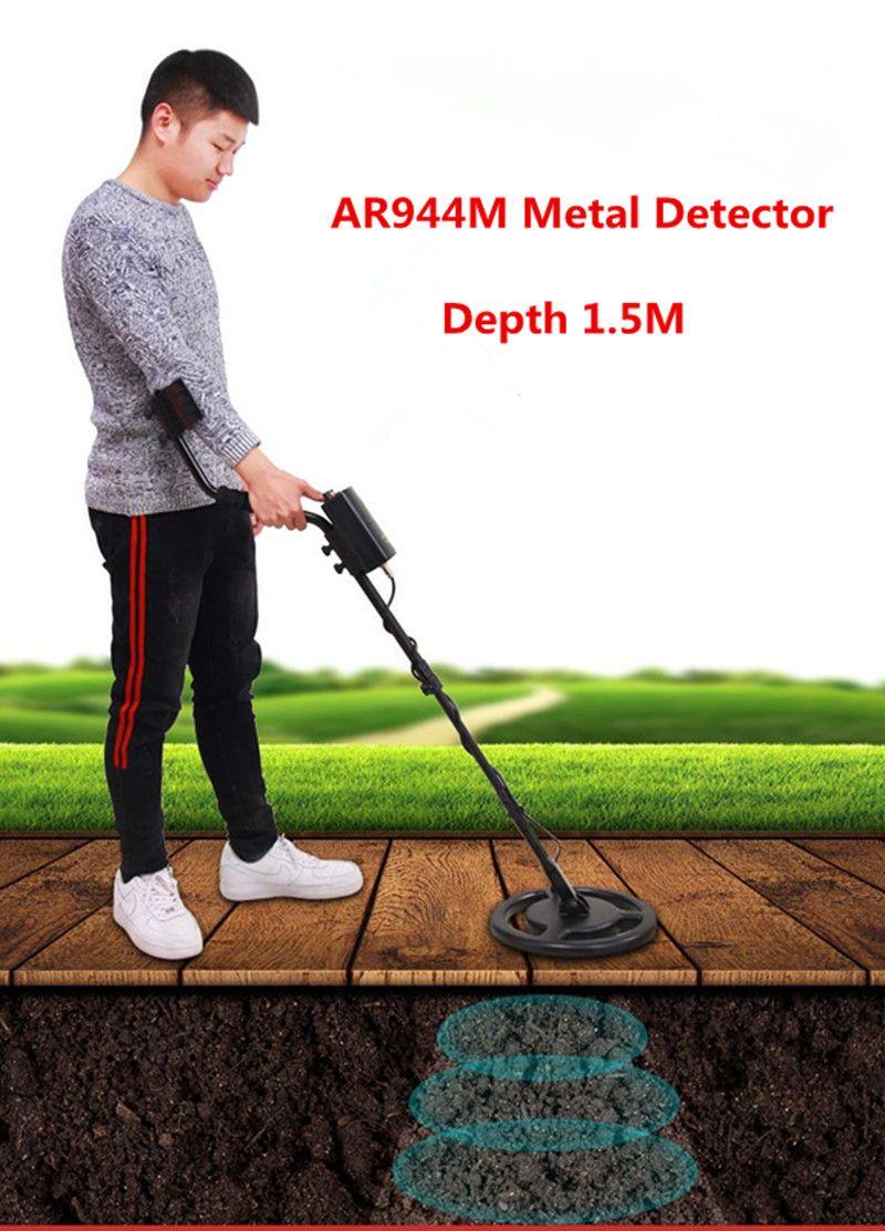 AR944M Professionelle Metall Detektor Unterirdischen Gold Silber Metall Detektor Hunter Schatz Seeker Finder Erfassung Ausrüstung