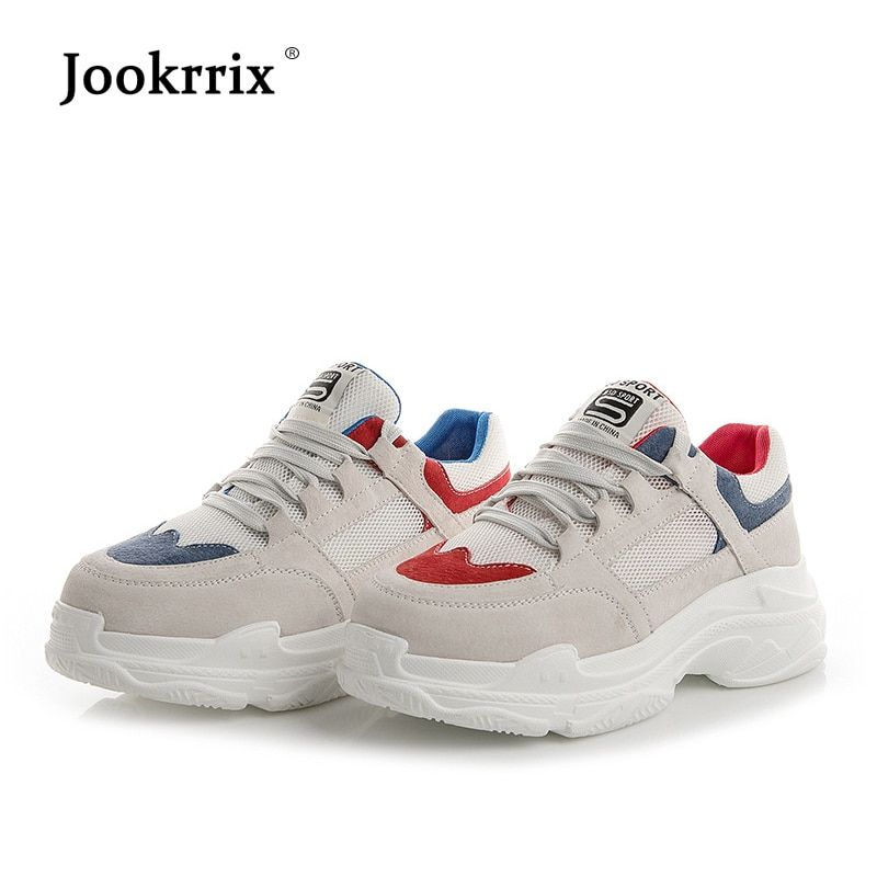 Jookrrix 2018 Autumn New Girl Fashion Brand Lady White Shoe Women Sneaker Leisure Platform Shoe Youth Flats Cross-tied All Match