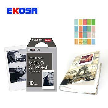 Fujifilm Instax Mini 9 8 Caméra 10 Feuilles Instax Film noir et blanc Caméra film Pour polaroid La tour à Paris Dans Cette Photo