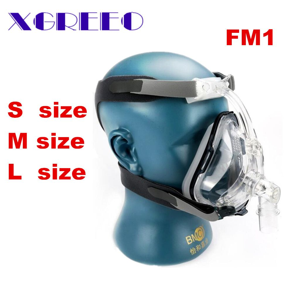 BMC XGREEO FM1 Full Face Mask For Mouth Sleep Breath With Headgrear Size(S/M/L) CPAP Machine Mask