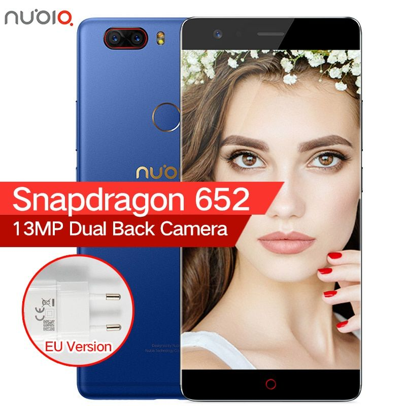 Original ZTE Nubia Z17 Lite Borderless 6GB RAM 64/128GB ROM Mobile Phone Snapdragon 653 Octa Core 5.5