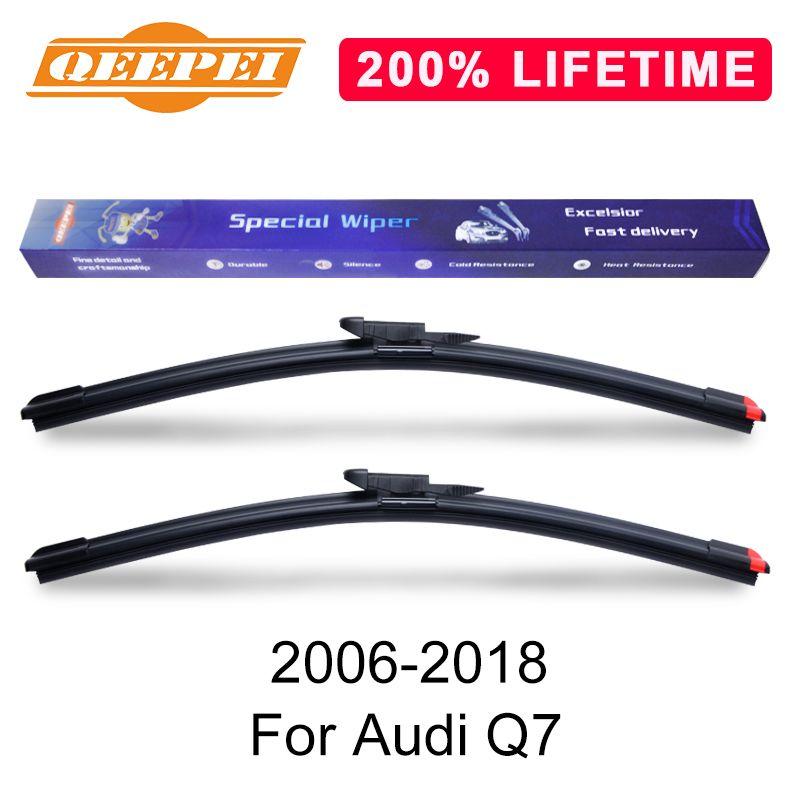 QEEPEI remplacer essuie-glace recharge pare-brise balais d'essuie-glace pour Audi Q7 8LB 4 MB 2006-2018 pare-brise en caoutchouc voiture accessoire