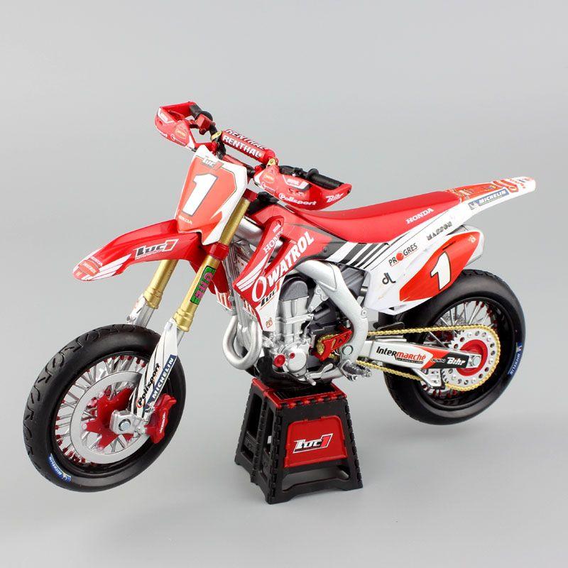 1:12 мини масштаб Honda Мотокросс HRC owatrol CRF450R CRF450 супермото LUC1 мотоцикл литья под давлением модели Гонки Байк игрушки