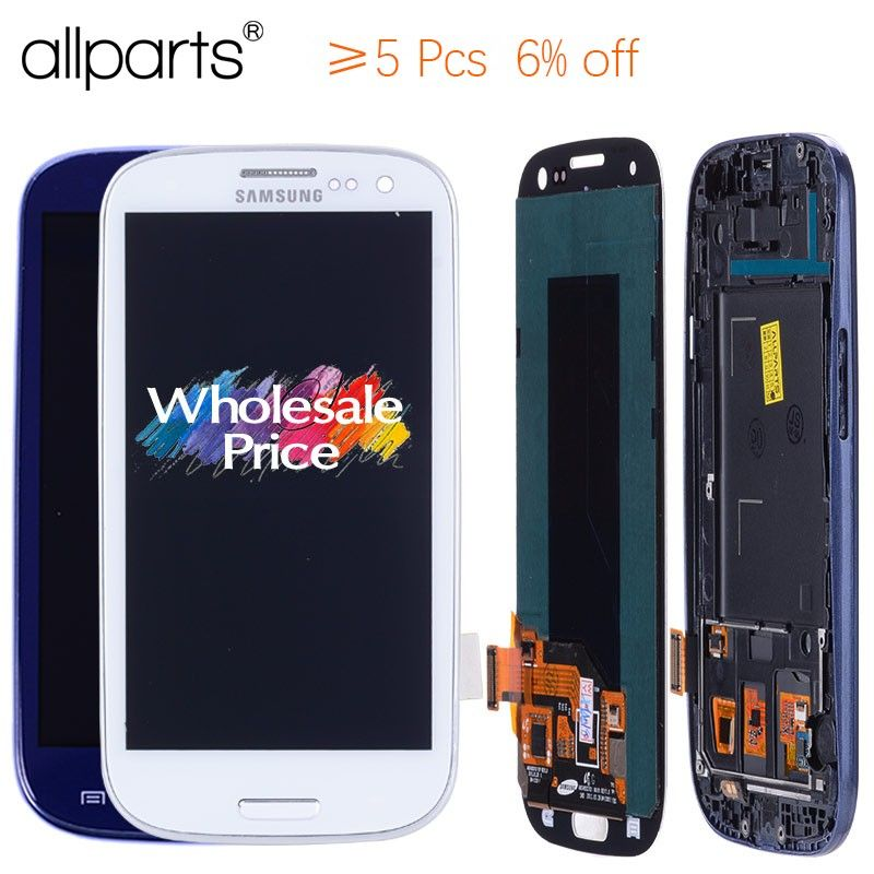 AA 4.8'' i9300i i9300 Display For SAMSUNG Galaxy S3 LCD Screen Assembly with Frame For SAMSUNG Galaxy S3 Display i9300 LCD