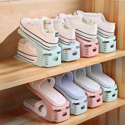 2018 caliente creativa Adjustab zapateros doble zapato almacenamiento moderno limpieza ahorro de espacio conveniente zapatos organizadores estante