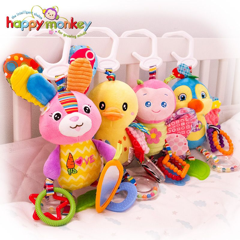 Baby Toys 0-2 years old  Cartoon Mobile Rattles Toys for Baby Stroller Toys Stuffed Animal Toys