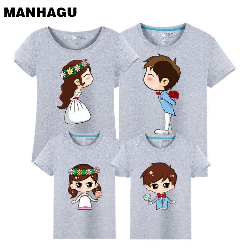 Été famille Look T-Shirt mère fille famille correspondant vêtements mode bébé T dessus de chemise T-Shirt maman et moi tenues vêtements